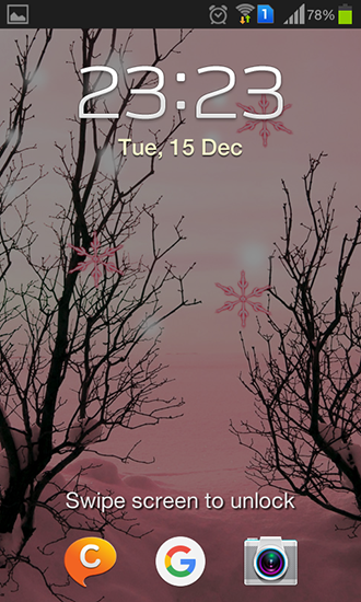 Screenshots of the Pink winter for Android tablet, phone.