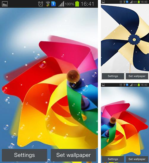 In addition to live wallpaper Moto maxx for Android phones and tablets, you can also download Pinwheel for free.