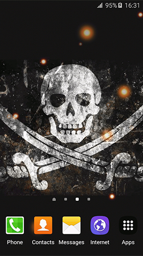 Screenshots of the Pirate flag for Android tablet, phone.