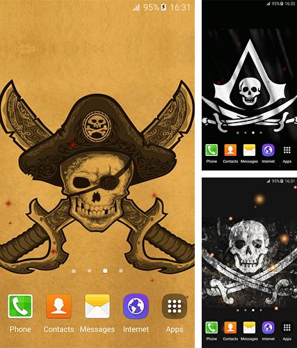 Download live wallpaper Pirate flag for Android. Get full version of Android apk livewallpaper Pirate flag for tablet and phone.