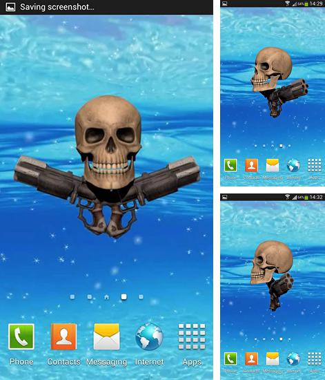 In addition to live wallpaper Fantasy by Dream World HD Live Wallpapers for Android phones and tablets, you can also download Pirate skull for free.
