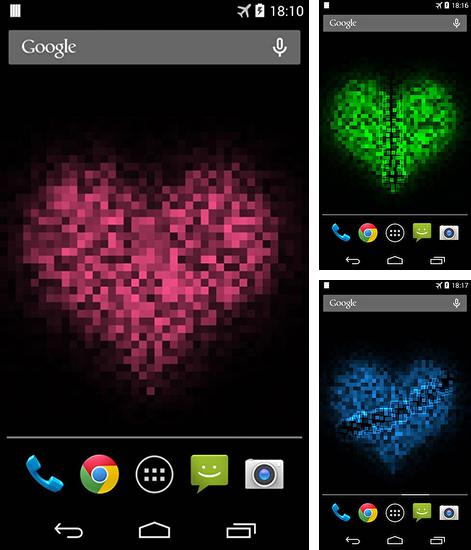 In addition to live wallpaper Luxury by Happy for Android phones and tablets, you can also download Pixel heart for free.