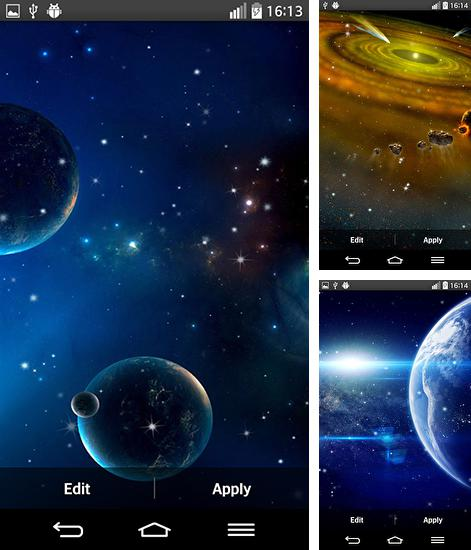 In addition to live wallpaper Deep galaxies HD deluxe for Android phones and tablets, you can also download Planets for free.