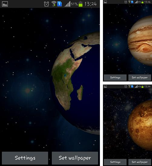 In addition to live wallpaper Power of life for Android phones and tablets, you can also download Planets 3D for free.