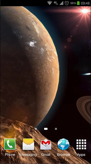 Kostenloses Android-Live Wallpaper Planetscape 3D. Vollversion der Android-apk-App Planetscape 3D für Tablets und Telefone.