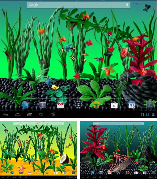 In addition to live wallpaper Space colony for Android phones and tablets, you can also download Plasticine aquarium for free.