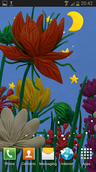Download livewallpaper Plasticine spring flowers for Android. Get full version of Android apk livewallpaper Plasticine spring flowers for tablet and phone.