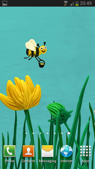 Screenshots of the Plasticine spring flowers for Android tablet, phone.