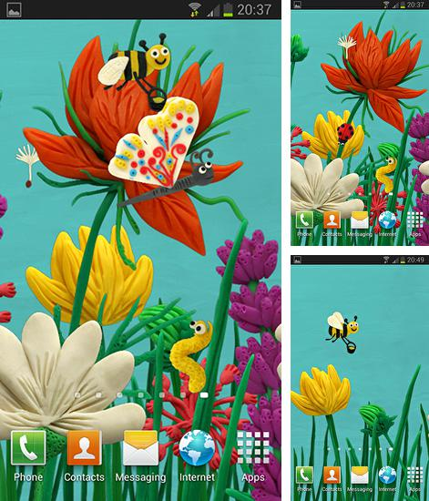 In addition to live wallpaper Ship by Jango LWP Studio for Android phones and tablets, you can also download Plasticine spring flowers for free.