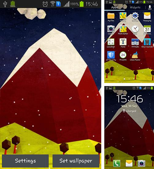 In addition to live wallpaper Popping bubbles for Android phones and tablets, you can also download Polygon hill for free.
