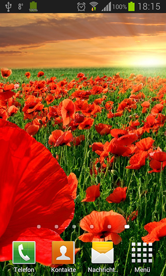 Screenshots of the Poppies for Android tablet, phone.