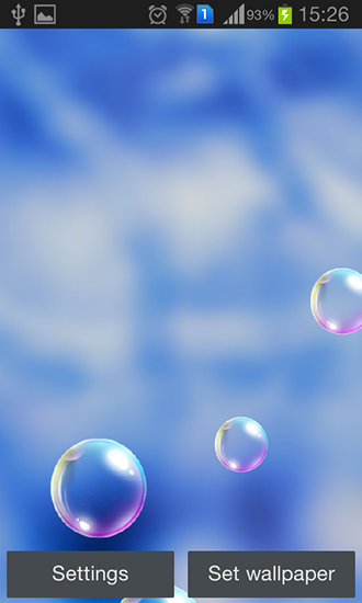 Screenshots of the Popping bubbles for Android tablet, phone.