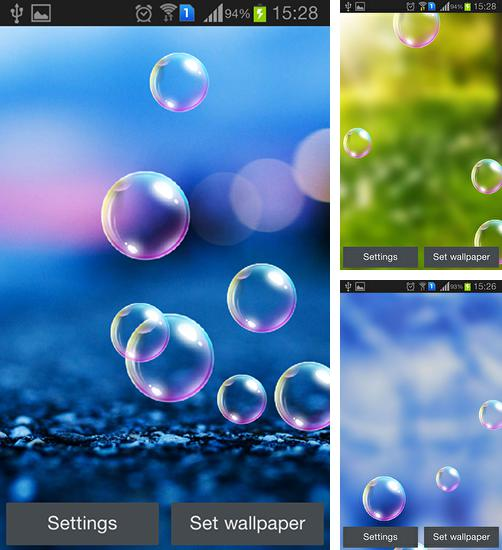In addition to live wallpaper Pink diamonds for Android phones and tablets, you can also download Popping bubbles for free.