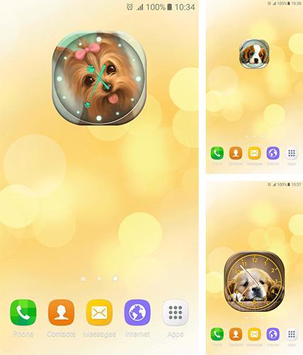 Download live wallpaper Puppies: Analog clock for Android. Get full version of Android apk livewallpaper Puppies: Analog clock for tablet and phone.