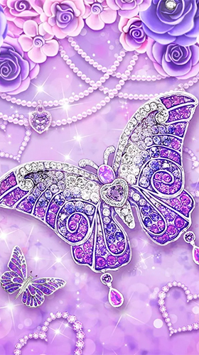 Purple diamond butterfly