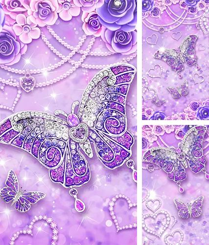 Download live wallpaper Purple diamond butterfly for Android. Get full version of Android apk livewallpaper Purple diamond butterfly for tablet and phone.