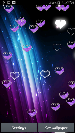 Purple Heart Live Wallpaper For Android Free Download Tablet And Phone