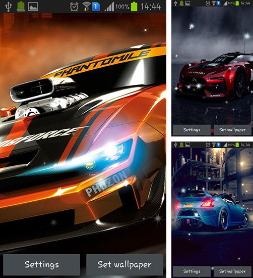 In addition to live wallpaper Neon fish for Android phones and tablets, you can also download Racing cars for free.