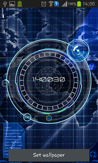 Radar: Digital clock live wallpaper for Android  Radar