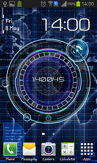 radar digital clock pour android t l charger gratuitement fond d 39 cran anim radar pendule. Black Bedroom Furniture Sets. Home Design Ideas