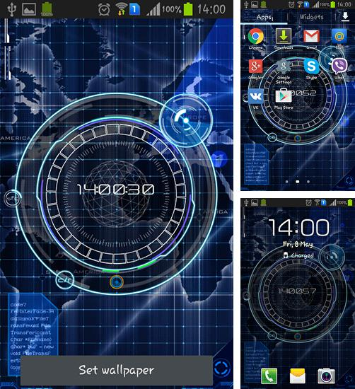 In addition to live wallpaper Sky for Android phones and tablets, you can also download Radar: Digital clock for free.