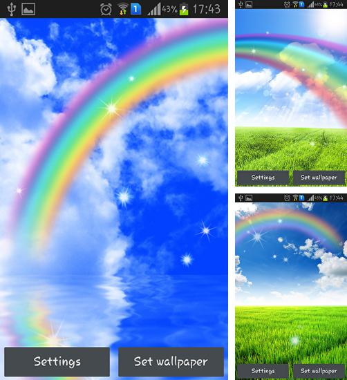 In addition to live wallpaper Rainbow sequin flip for Android phones and tablets, you can also download Rainbow for free.