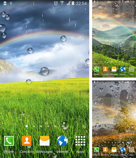 In addition to live wallpaper Water drops by Top Live Wallpapers for Android phones and tablets, you can also download Rainbow by Blackbird wallpapers for free.