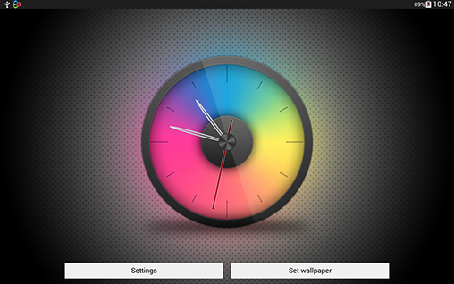Download livewallpaper Rainbow clock for Android. Get full version of Android apk livewallpaper Rainbow clock for tablet and phone.