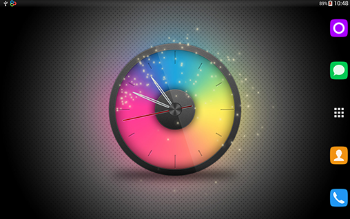 Download Rainbow clock - livewallpaper for Android. Rainbow clock apk - free download.
