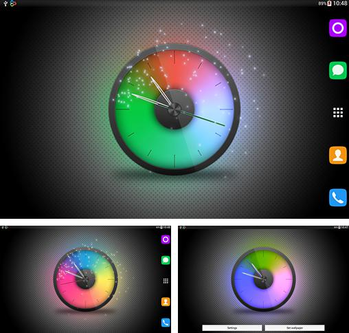 In addition to live wallpaper Winter night by Blackbird wallpapers for Android phones and tablets, you can also download Rainbow clock for free.