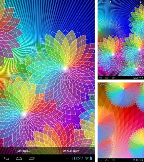 In addition to live wallpaper Cat licks for Android phones and tablets, you can also download Rainbow colors for free.