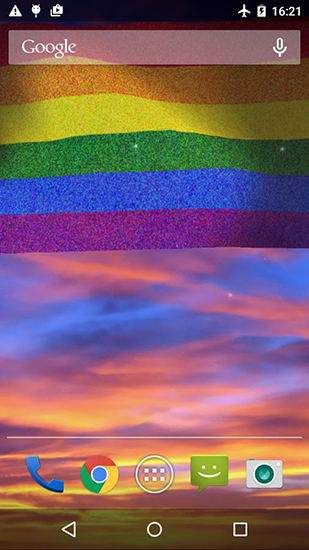 Screenshots of the Rainbow flag for Android tablet, phone.