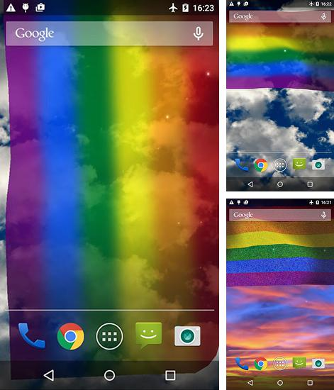 In addition to live wallpaper Shiny сolor for Android phones and tablets, you can also download Rainbow flag for free.