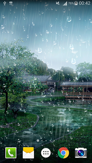 Raindrop live wallpaper for Android. Raindrop free ...