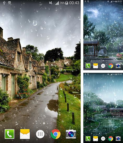 In addition to live wallpaper Black Clock for Android phones and tablets, you can also download Raindrop for free.