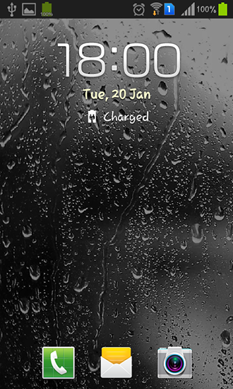 Screenshots of the Raindrops for Android tablet, phone.