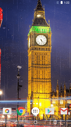 Screenshots of the Rainy London by Phoenix Live Wallpapers for Android tablet, phone.