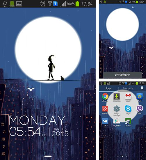 In addition to live wallpaper Crescent: Dream for Android phones and tablets, you can also download Rainy night for free.