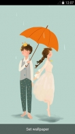 Rainy romance - download free live wallpapers for Android. Rainy romance full Android apk version for tablets and phones.
