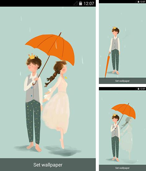 In addition to live wallpaper Ocean waves by Keyboard and HD Live Wallpapers for Android phones and tablets, you can also download Rainy romance for free.
