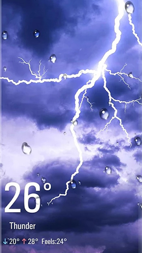 Real Time Weather live wallpaper for Android. Real Time Weather free download for tablet and phone.