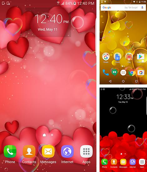 In addition to live wallpaper Autumn by SubMad Group for Android phones and tablets, you can also download Red and gold love for free.