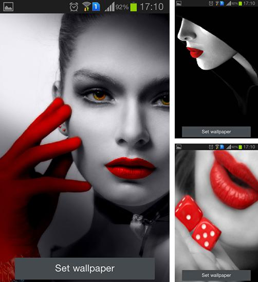 In addition to live wallpaper Lightning 3D for Android phones and tablets, you can also download Red lips for free.