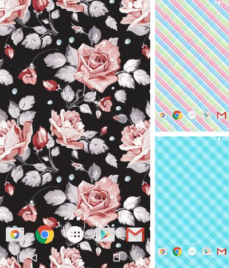In addition to live wallpaper Love: Clock for Android phones and tablets, you can also download Retro patterns for free.