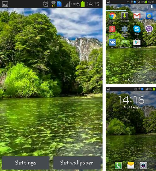 In addition to live wallpaper Summer by Live wallpapers free for Android phones and tablets, you can also download River for free.