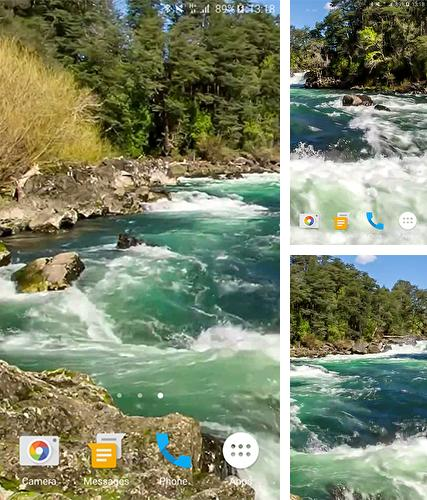Kostenloses Android-Live Wallpaper Fluss. Vollversion der Android-apk-App River by Pawel Grabowski für Tablets und Telefone.