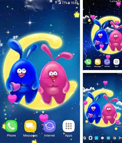 Download live wallpaper Romantic bunnies for Android. Get full version of Android apk livewallpaper Romantic bunnies for tablet and phone.