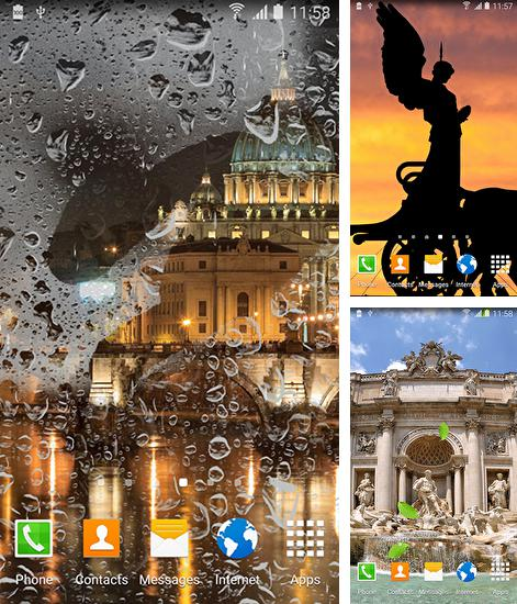 In addition to live wallpaper Greece night for Android phones and tablets, you can also download Rome for free.