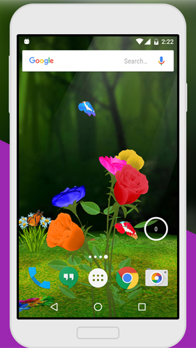Kostenloses Android-Live Wallpaper Rose 3D. Vollversion der Android-apk-App Rose 3D by Live Wallpaper für Tablets und Telefone.