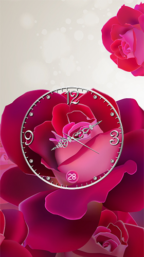 Rose: Analog clock